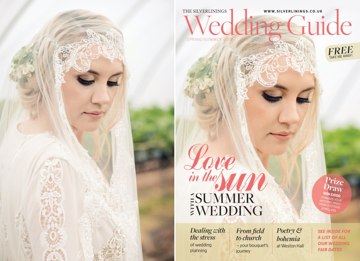 Front cover of Silverlinings Wedding Magazine Spring/Summer 2018