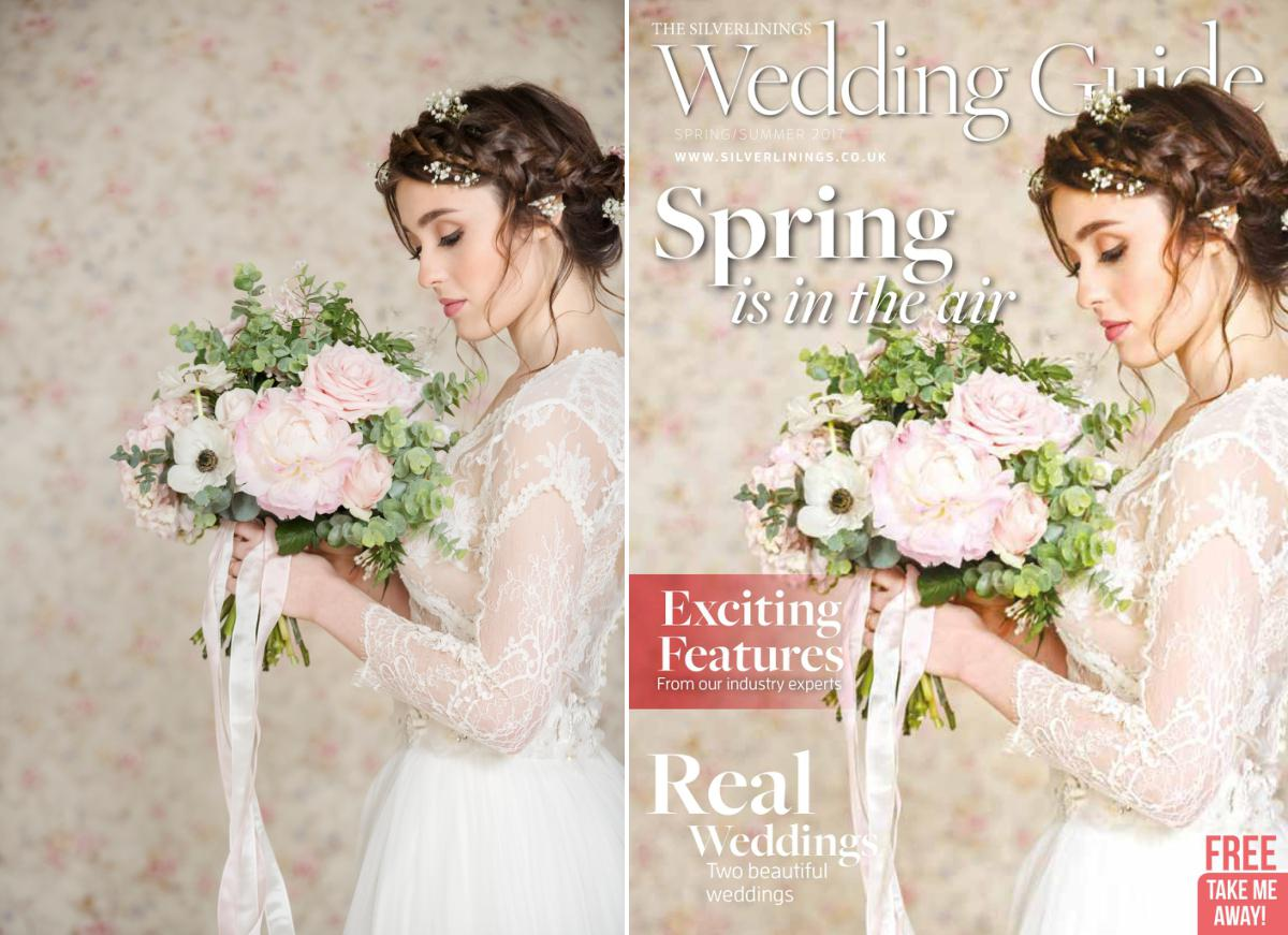 Front cover of Silverlinings Wedding Magazine Spring/Summer 2017