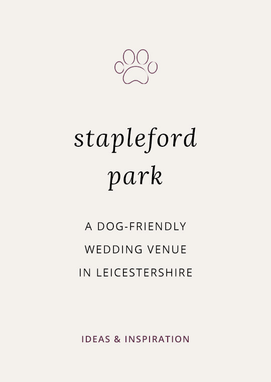 Cover image for blog post about Stapleford Park - a dog friendly wedding venue in Leicestershire