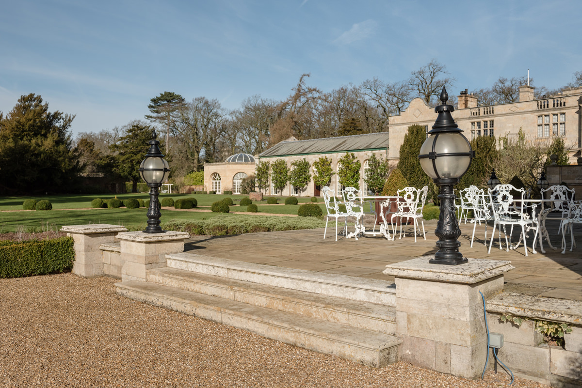 The terrace at Stapleford Park