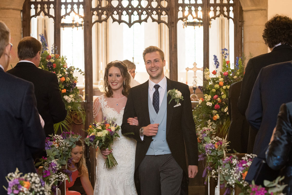 The recessional at All Saints church in Polebrook near Oundle