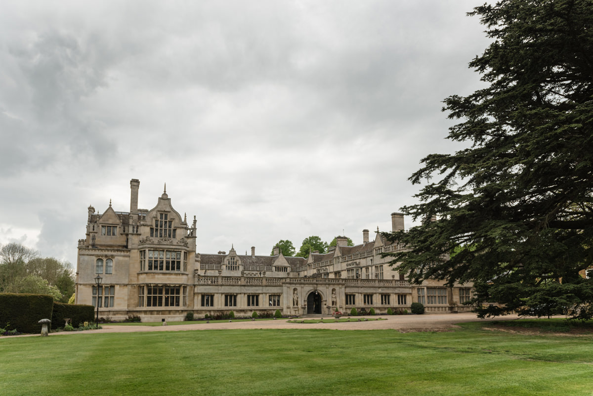 A view of the front of Rushton Hall in Kettering
