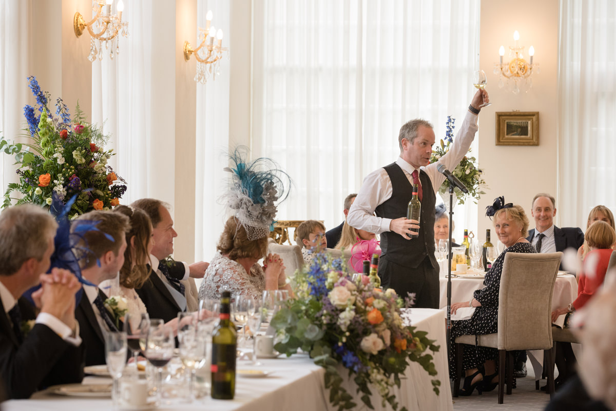 Surprise singing waiters at Rushton Hall in Kettering