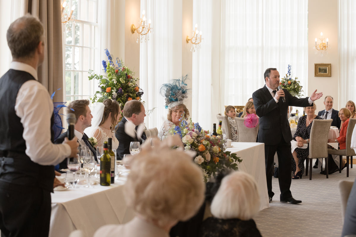 Singing waiter performance at a wedding at Rushton Hall in Kettering
