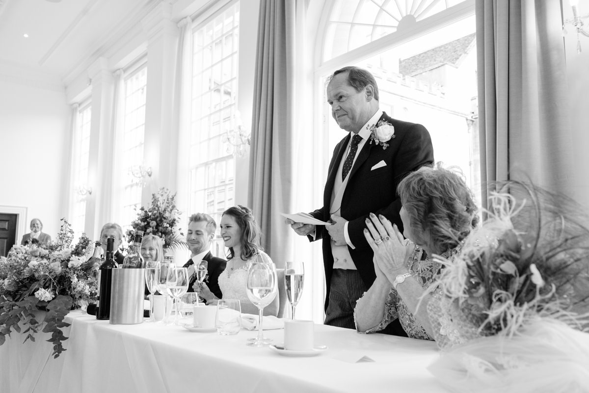 Father of the bride speech at Rushton Hall in Kettering
