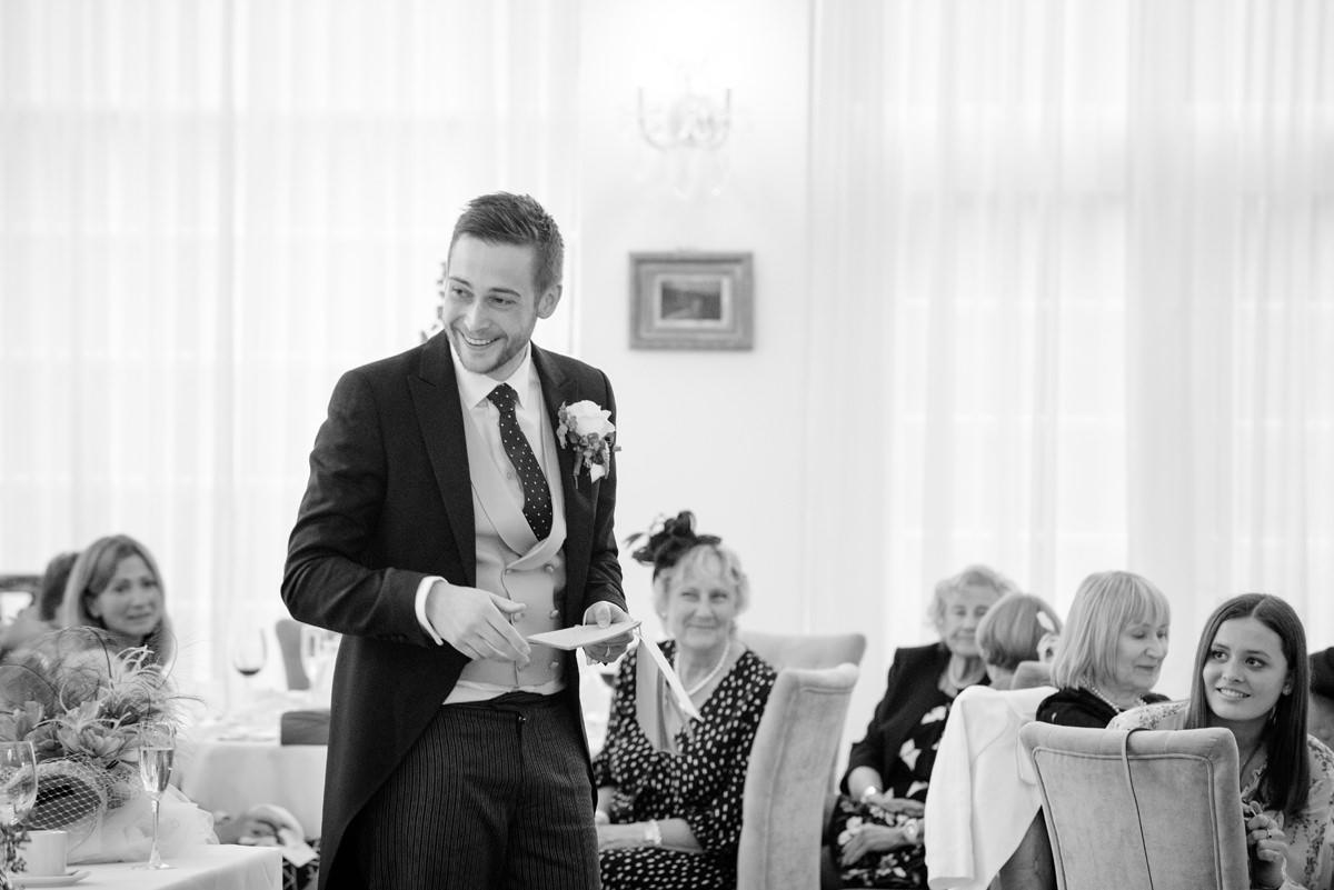 Best Man's speech at Rushton Hall in Kettering