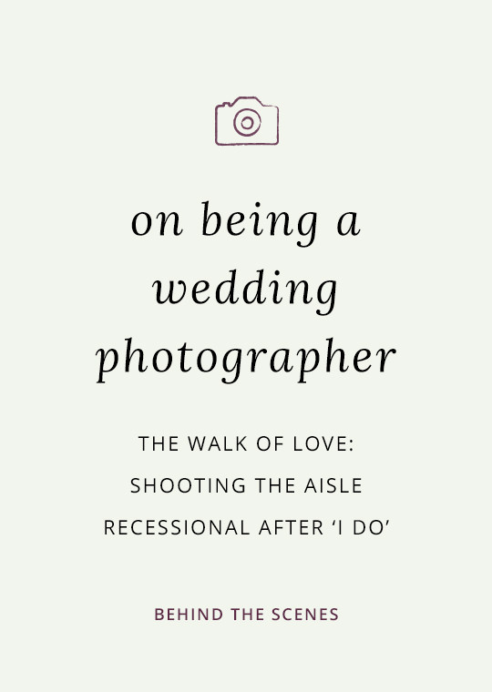 Cover image for blog post about photographing the ceremony recessional