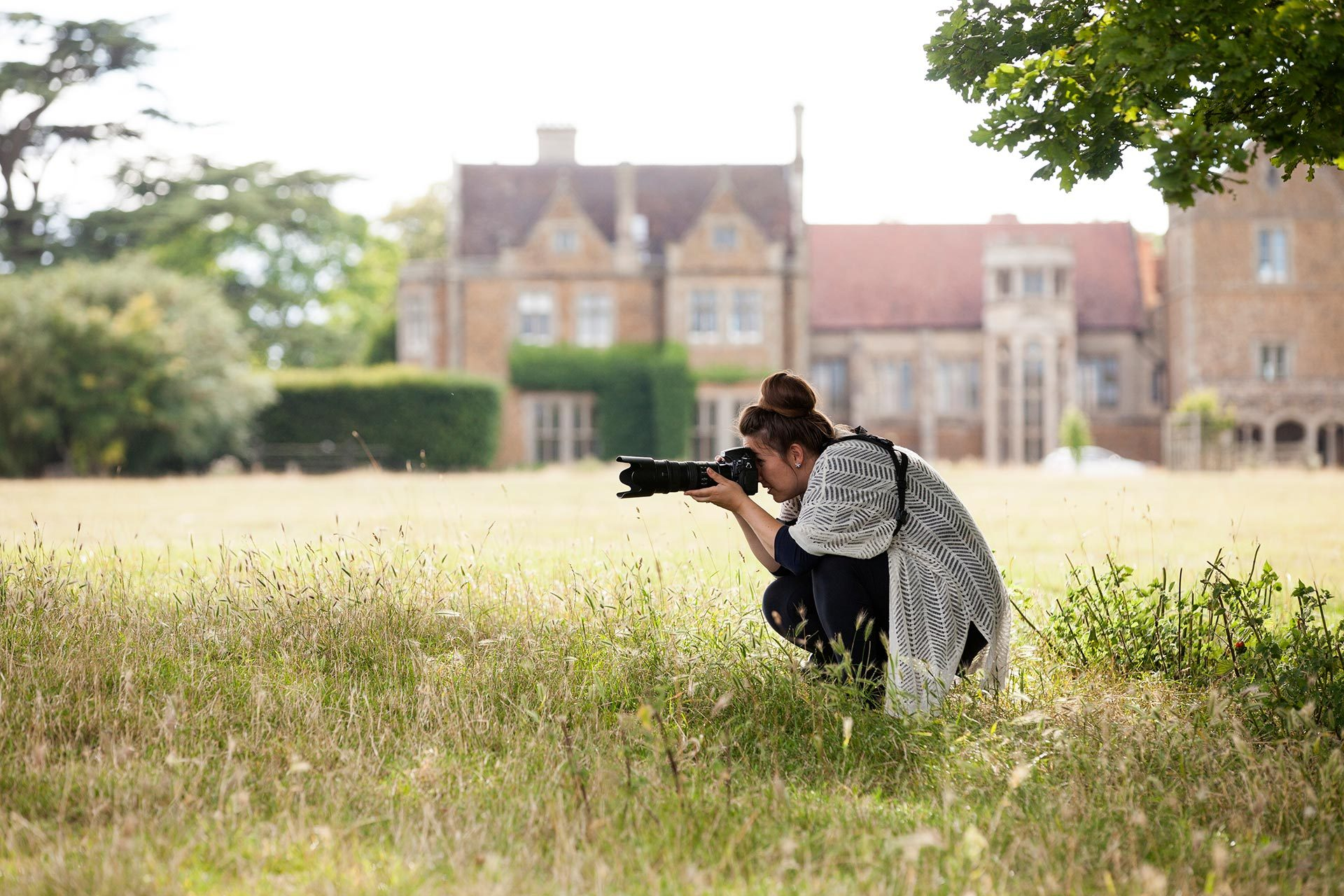 Sarah Vivienne taking photos at Fawsley Hall