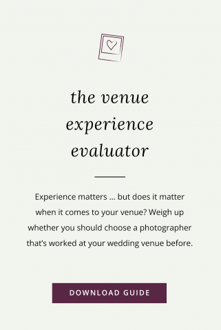 Does it matter if your photographer hasn't worked at your venue before