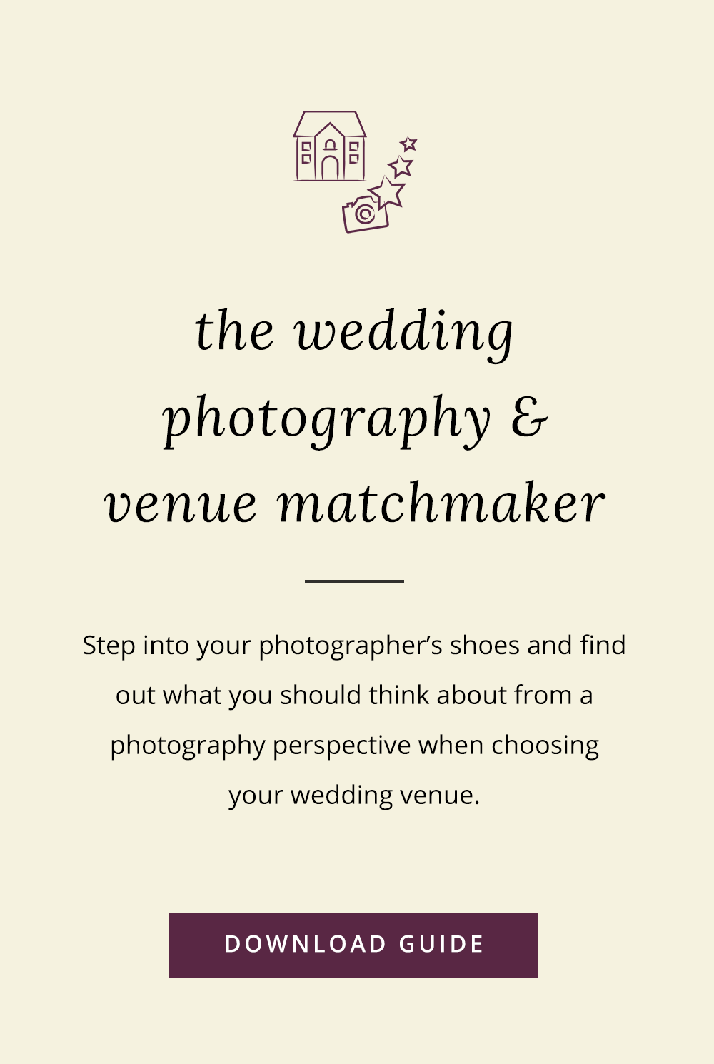 Photography things to consider when choosing your wedding venue