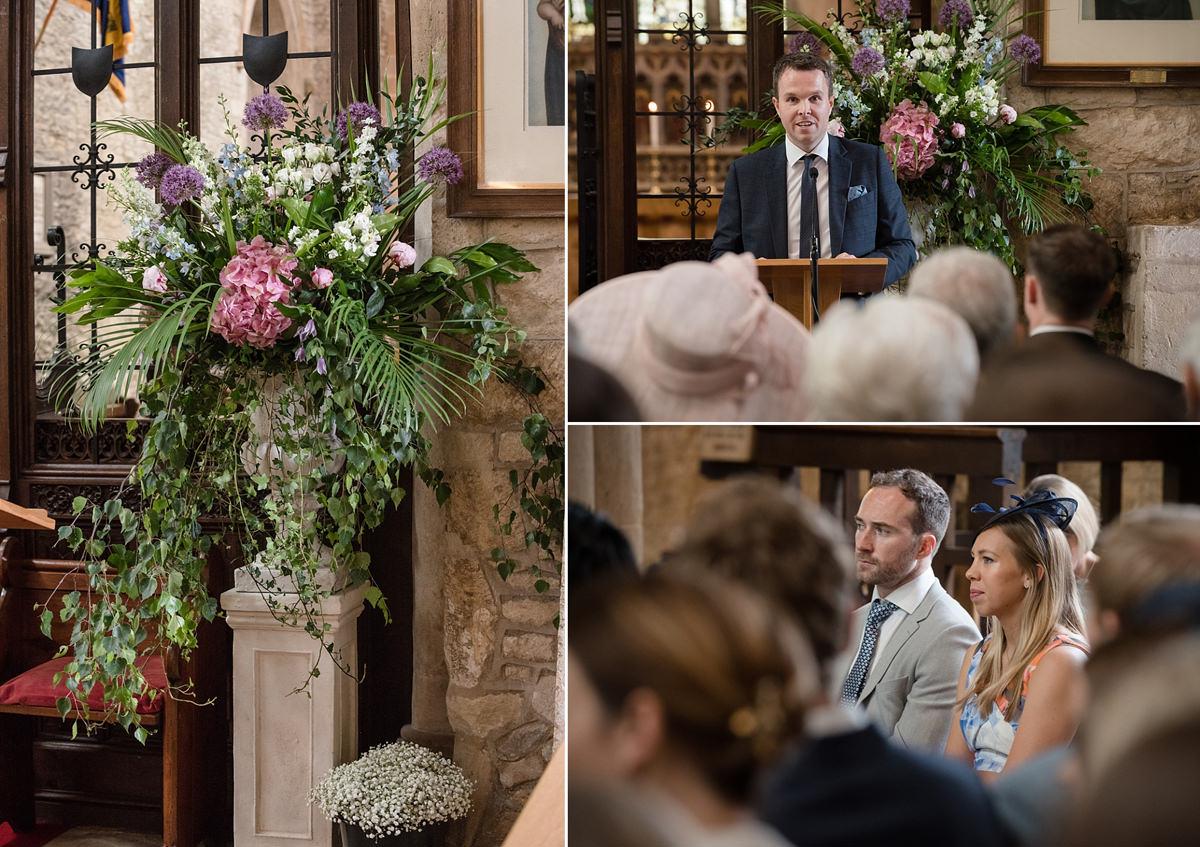 Wedding readings at St Mary's church in Geddington, Northants