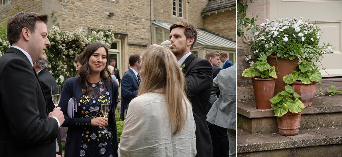 Guests enjoying drinks reception in Geddington