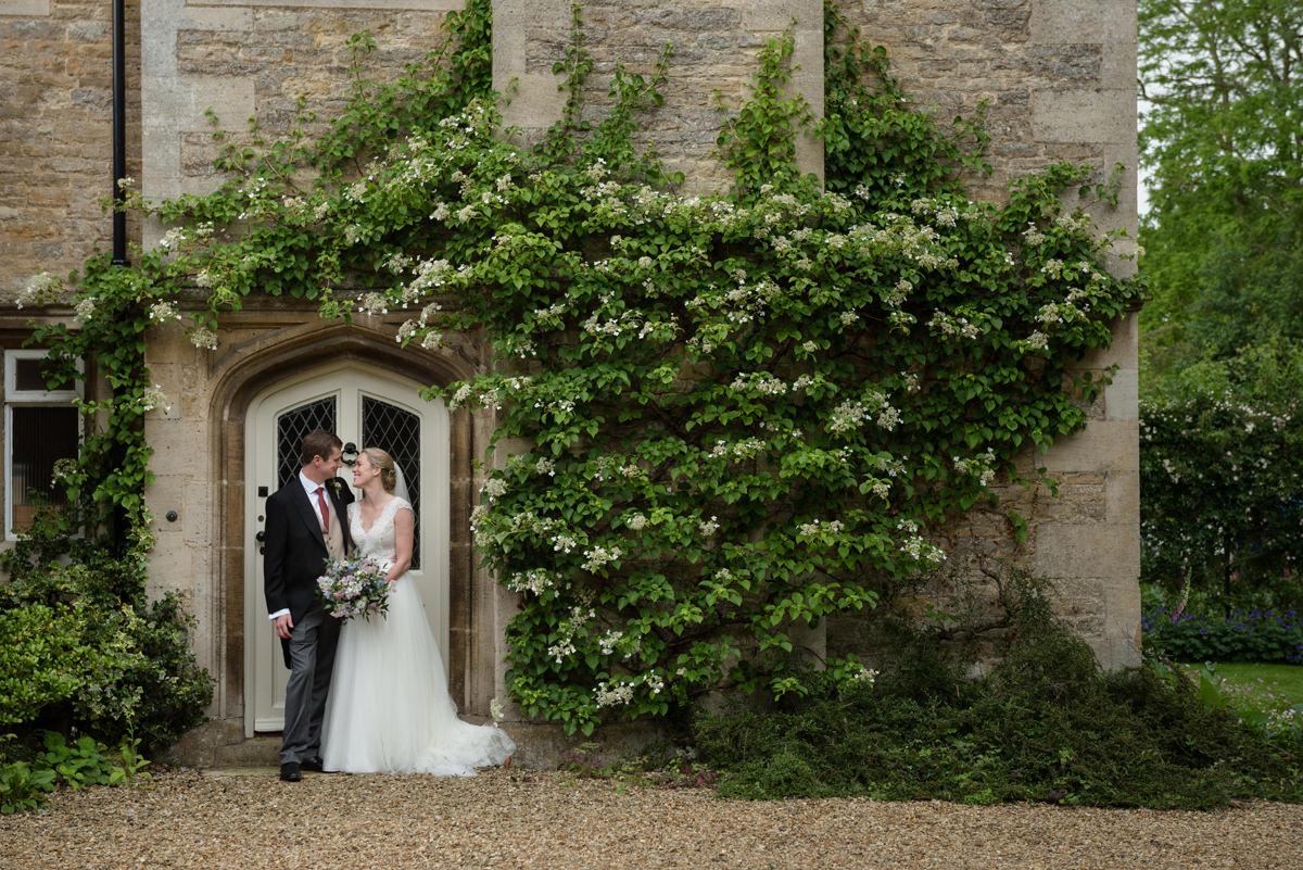 Bride and groom portrait in Geddington