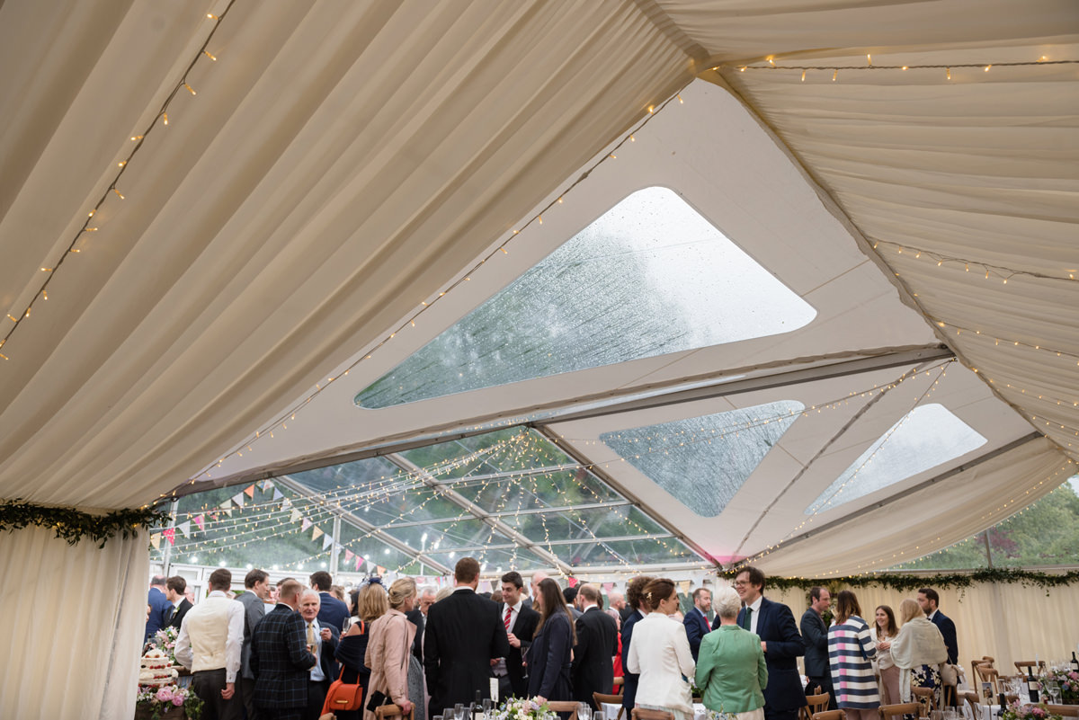 Clear roof marquee in Geddington, Northamptonshire