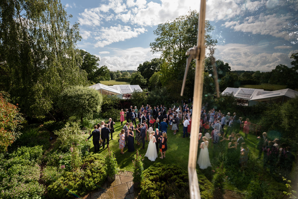 Marquee wedding reception at home in Geddington, Northamptonshire
