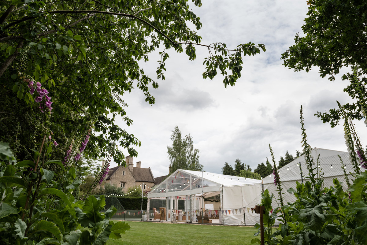 Marquee wedding at home in Geddington, Northants