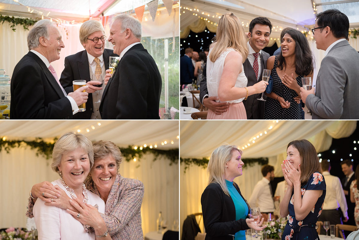 Evening party at a marquee wedding in Geddington, Northants