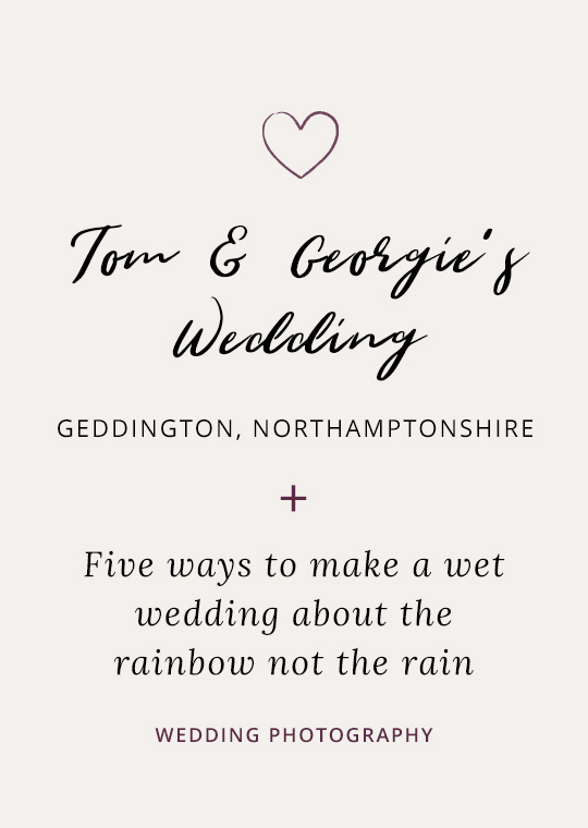 Cover image - Tom & Georgie's wet wedding
