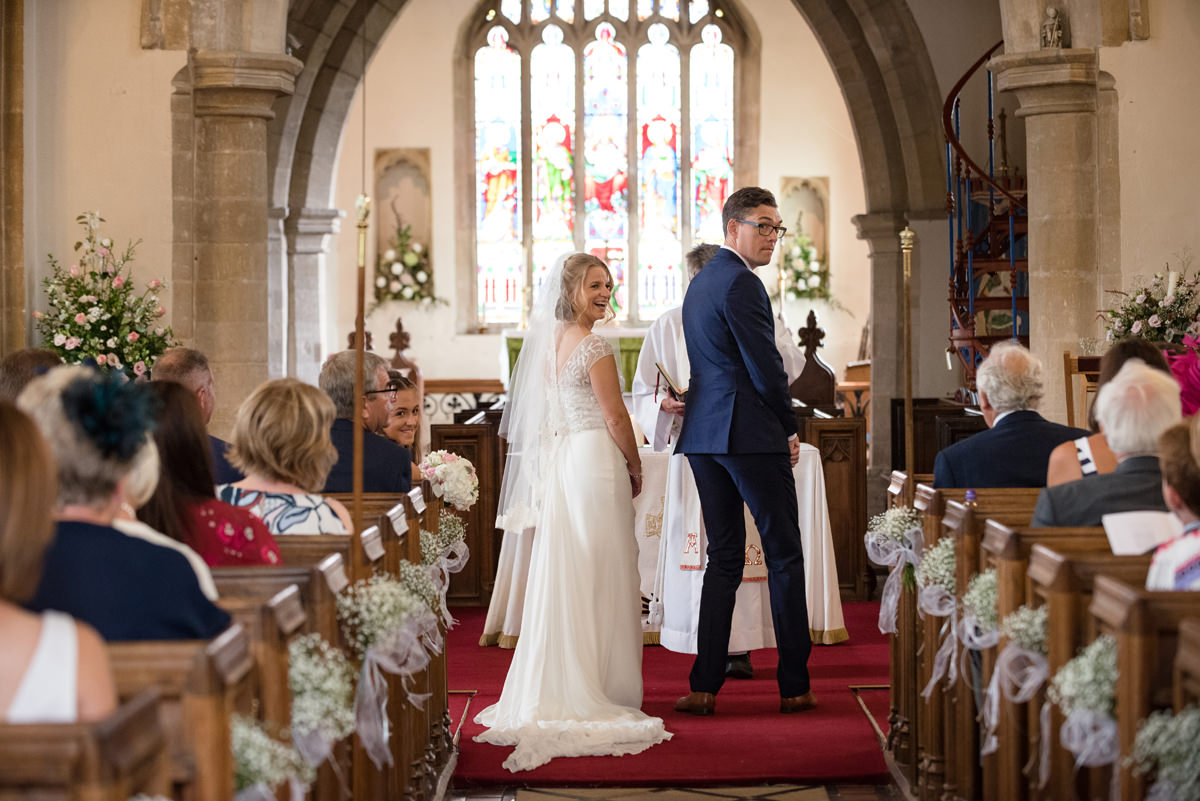 Wedding declarations at Kings Cliffe church