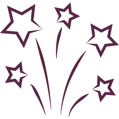 bursting stars icon