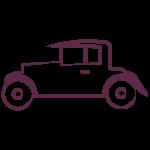 vintage wedding car icon