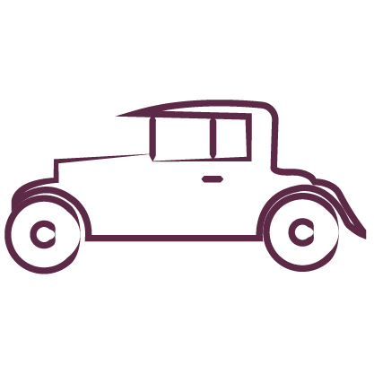 vintage wedding car icon