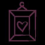 framed heart photo icon