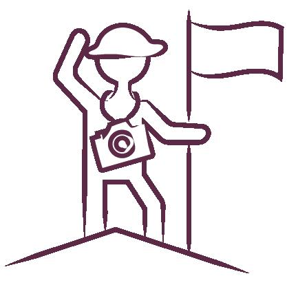 adventurer with camera icon