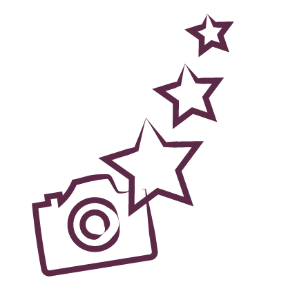 camera with stars icon