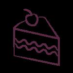 slice of cake icon