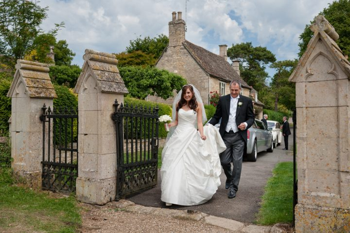 Bride arriving at Barrowden church