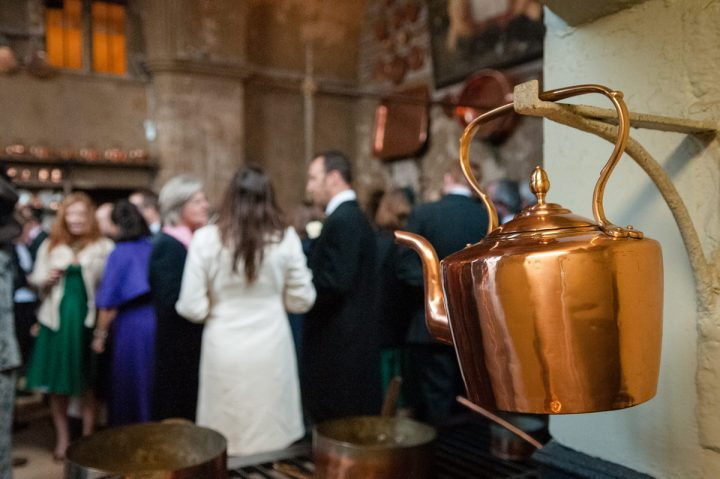 A copper kettle in the Old Kitchen at Burghley House