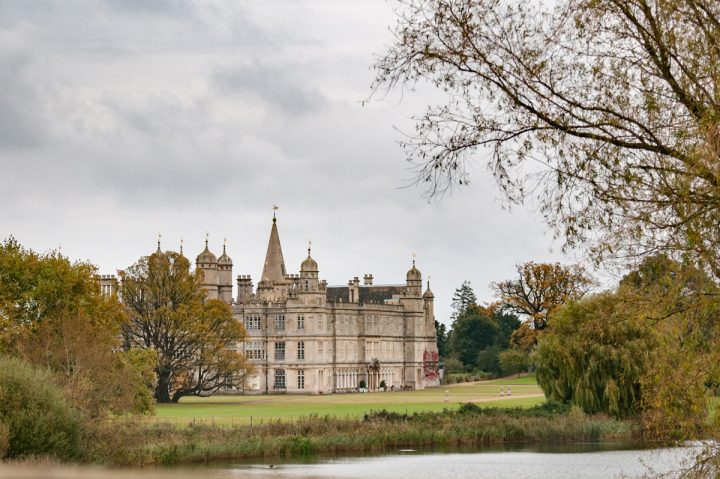 View of Burghley House from the bridge
