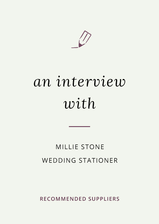 Cover for blog post about Millie Stone Wedding Stationery