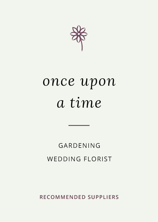 Cover for blog post about Once Upon A Time wedding flowers