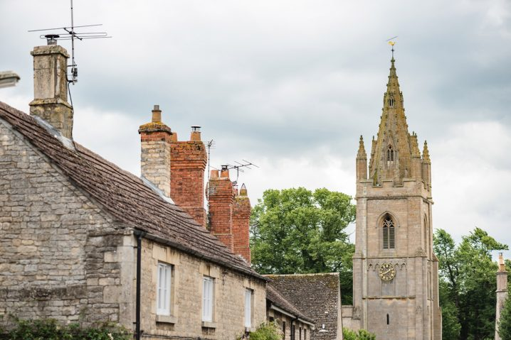 The spire of Empingham church