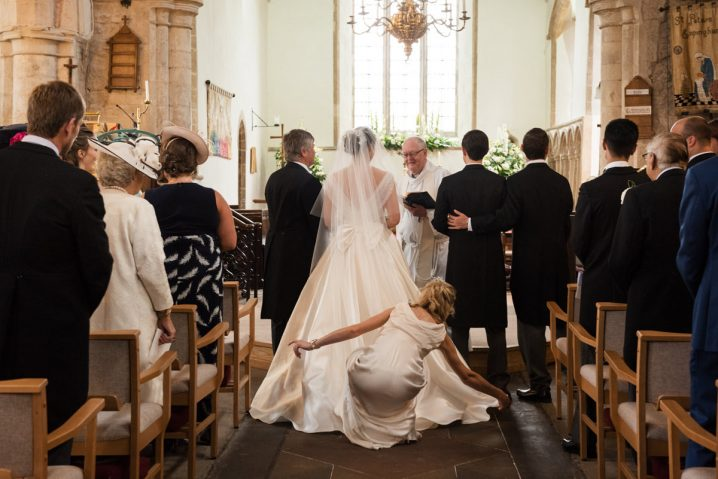 Wedding ceremony at Empingham church