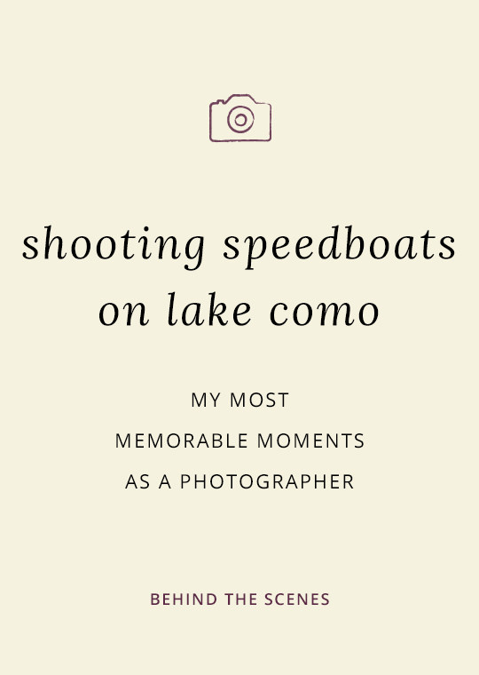 Cover image for blog post about photography at Lake Como