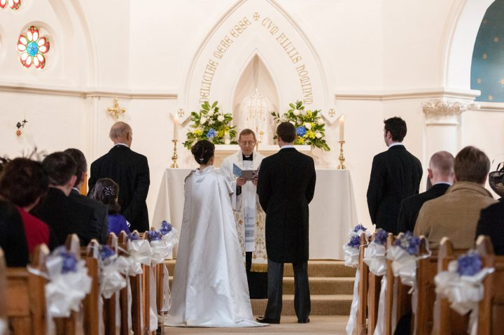 A church wedding in Stamford