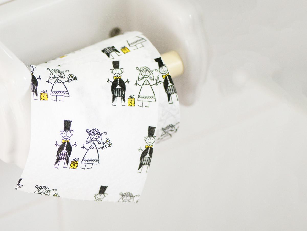 Wedding day toilet roll