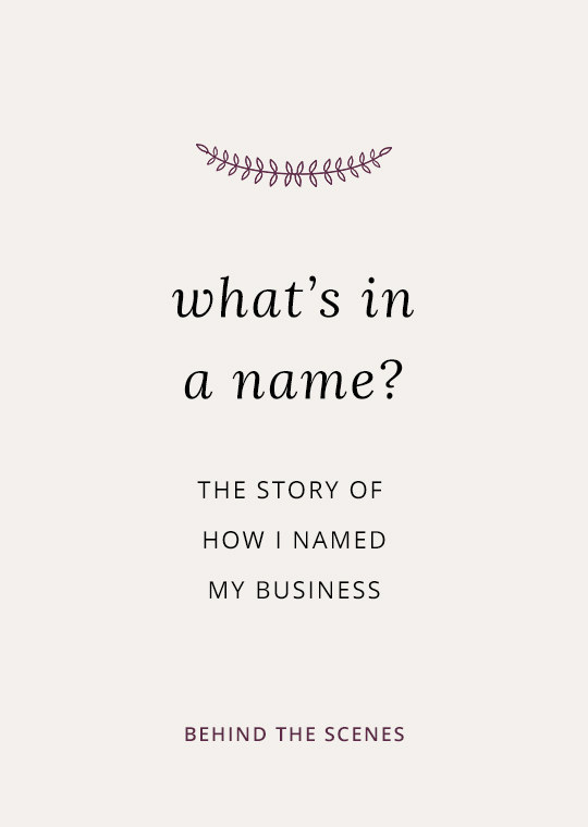 Cover image for blog post about how I named my business