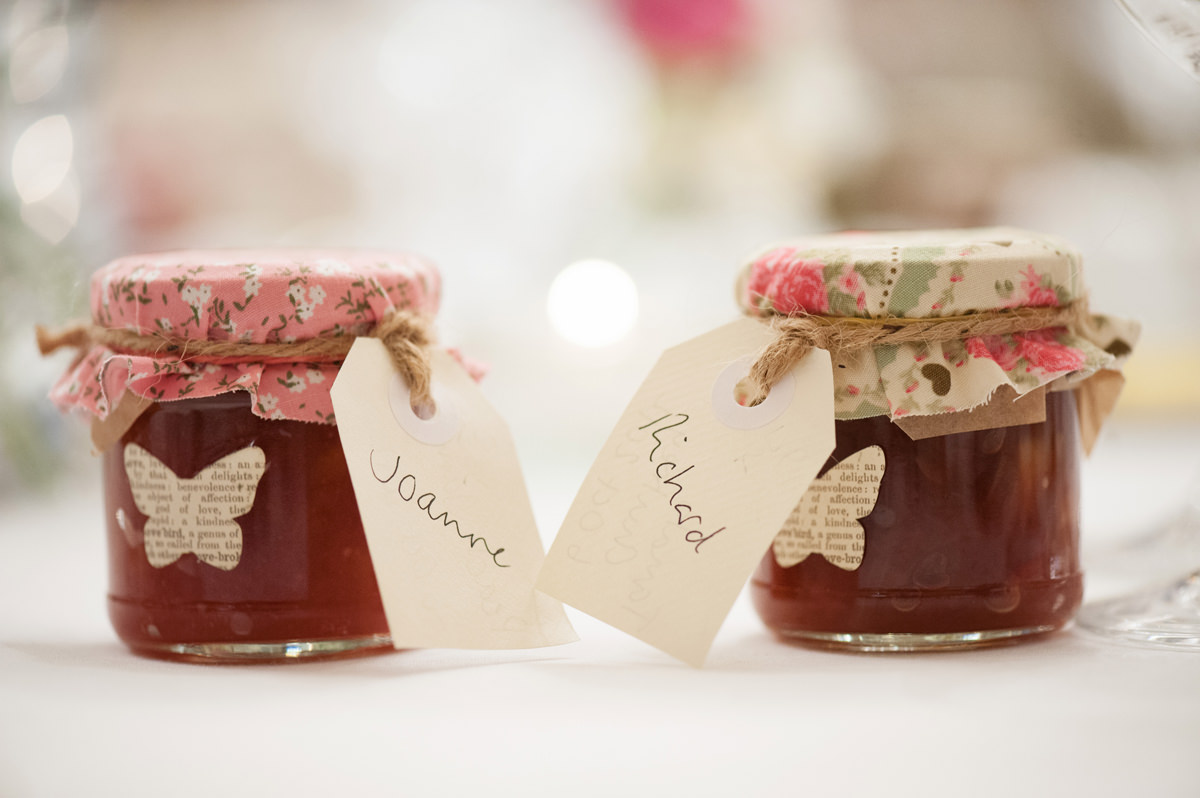 Personalised homemade jam wedding favours