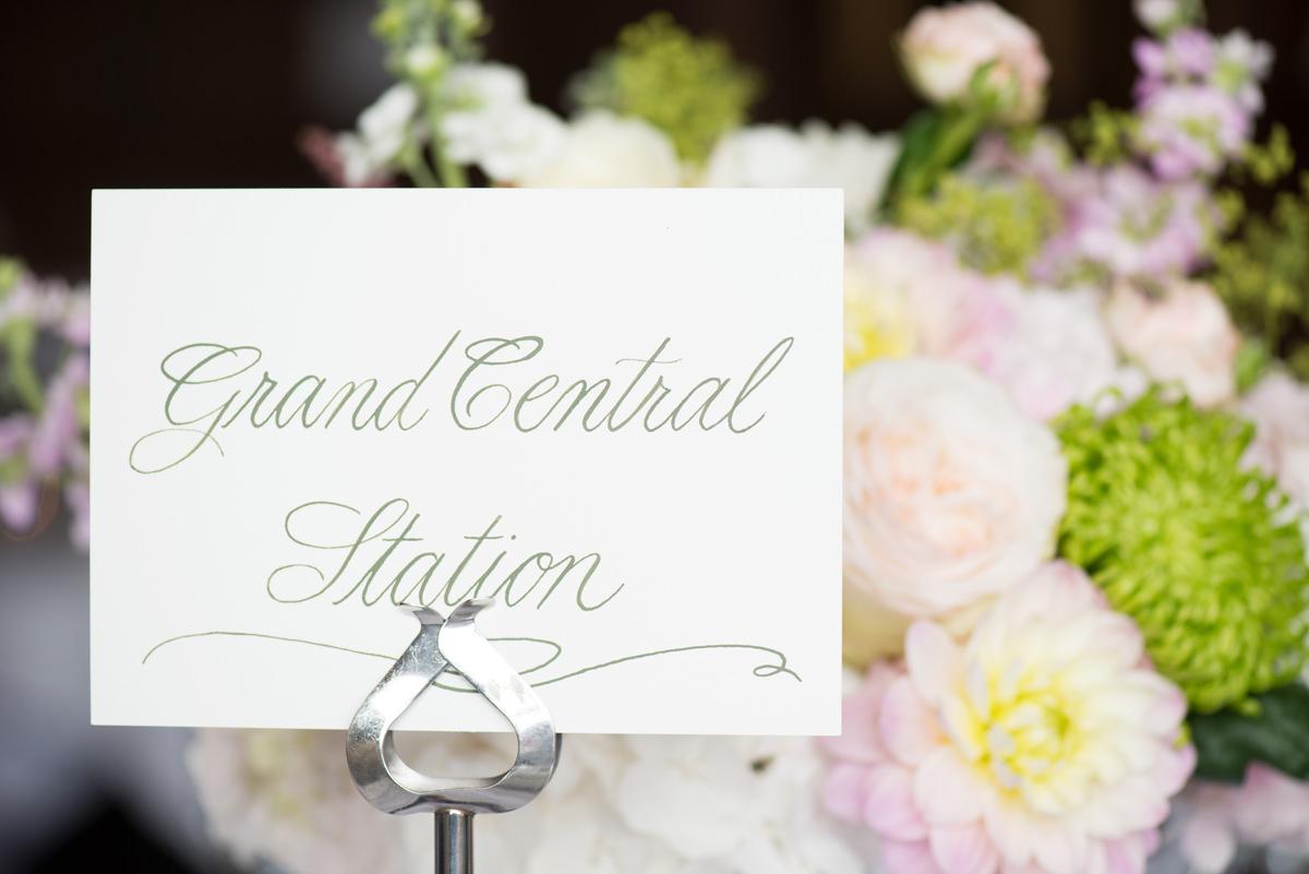 New York wedding table name
