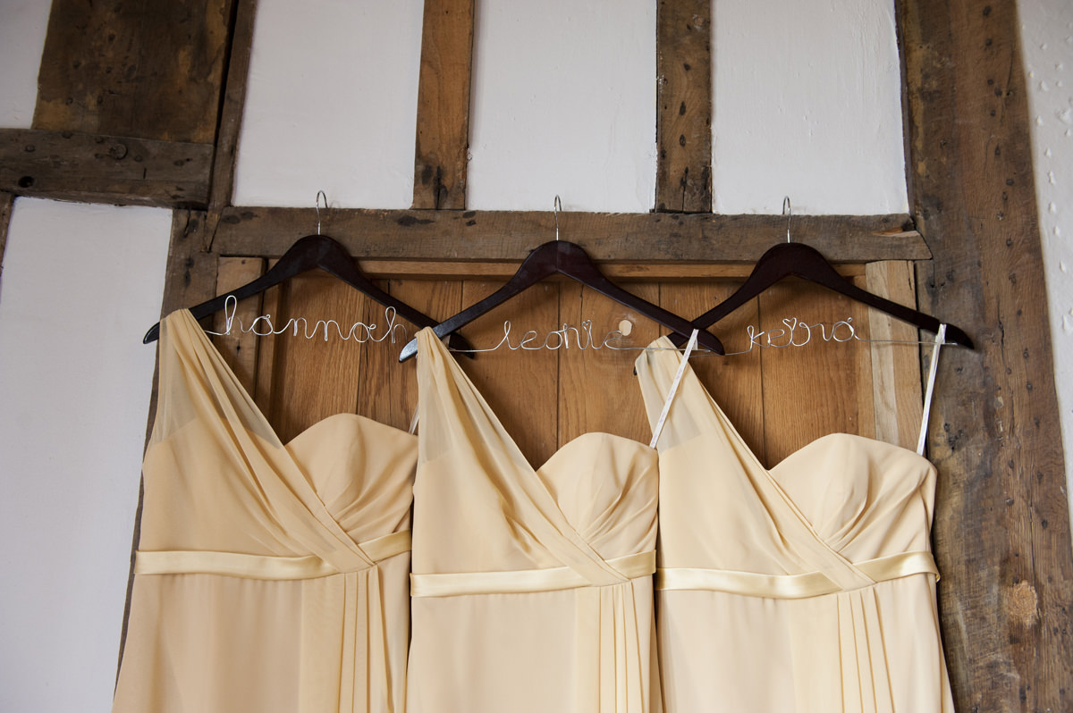 Personalised wire bridesmaid dress hangers