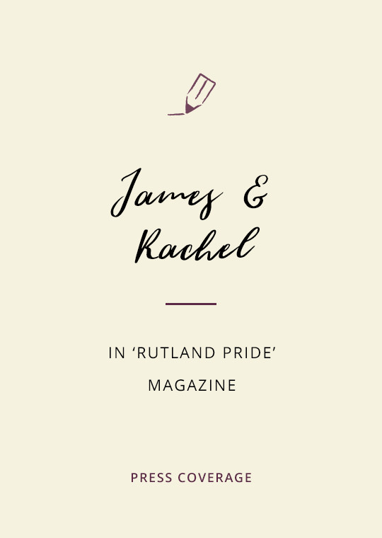 Cover image for blog post about James and Rachel's wedding magazine feature