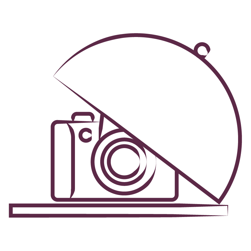 Camera on a serving dish illustration
