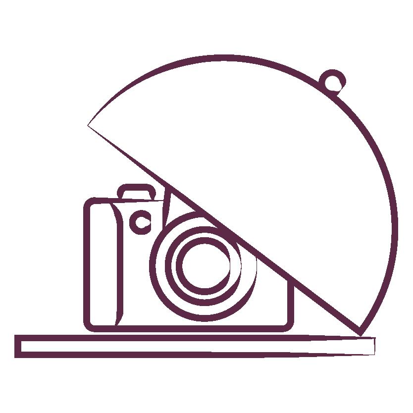 Camera on a serving dish illustration