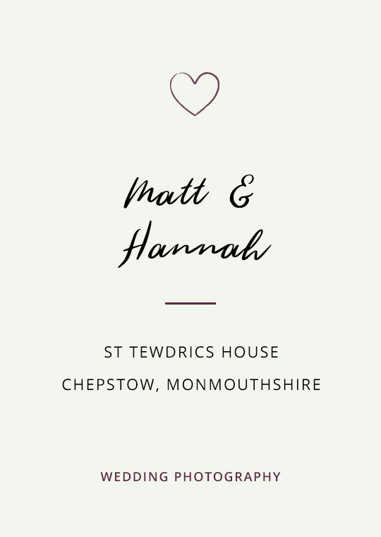 Cover image for blog post about Matt and Hannah's wedding at St Tewdrics House