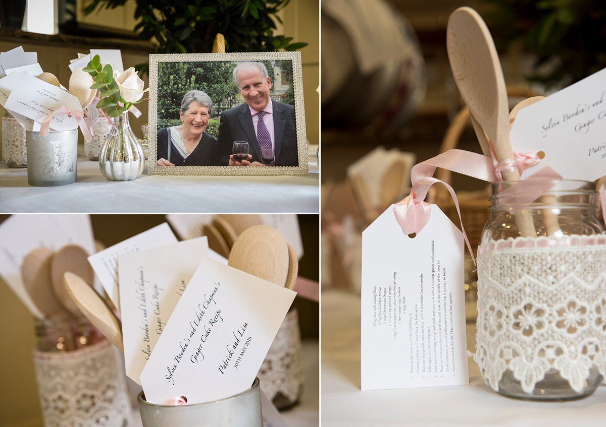 Family recipe wedding favours