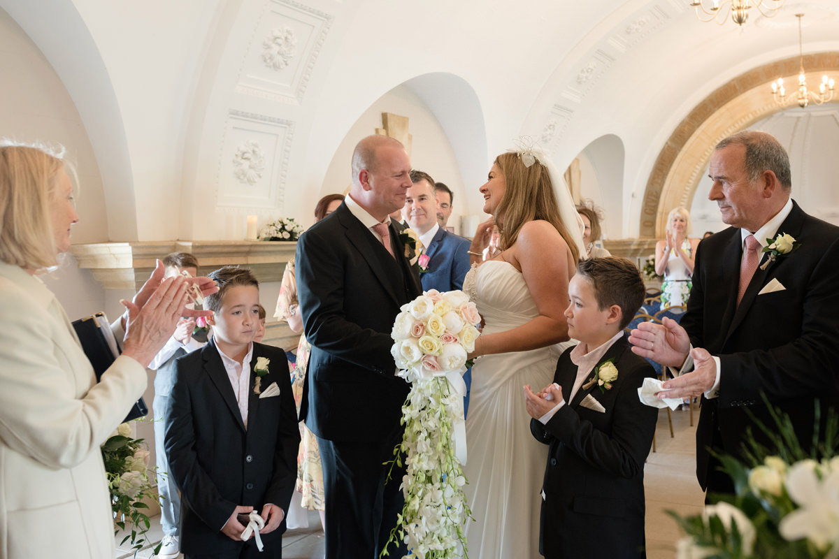 Bride and groom pronounced husband and wife at Normanton Church